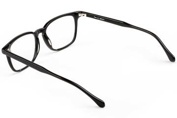 Nash LBF eyeglasses in black viewed from rear