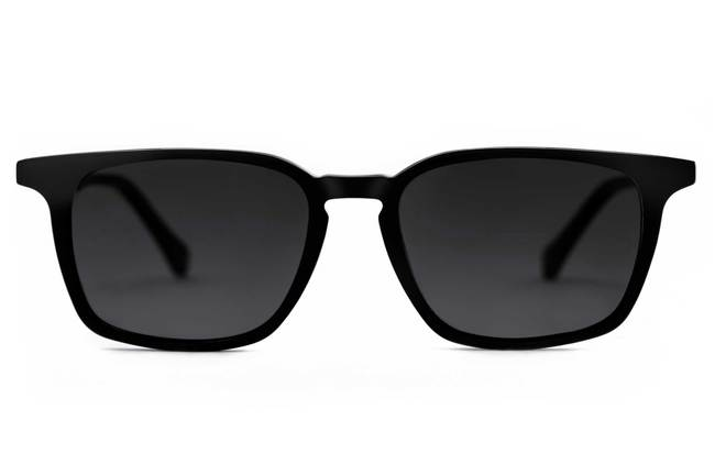 Nash LBF sunglasses in black viewed from front