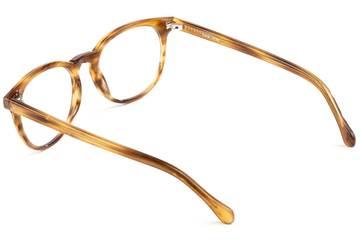 Roebling LBF eyeglasses in amber toffee viewed from rear