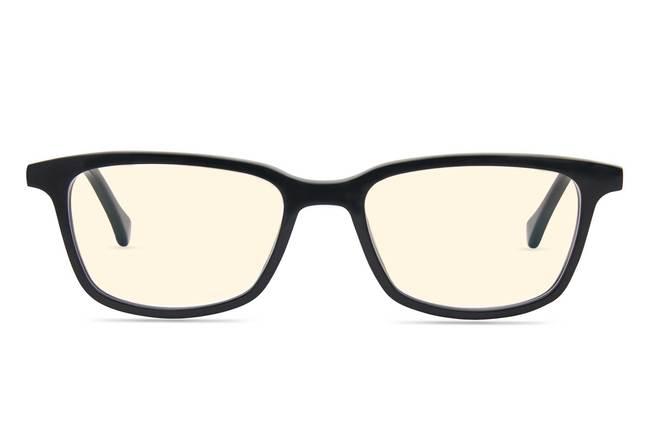 Faraday K2 sleepglasses in black viewed from front