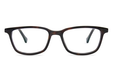 Faraday K2 eyeglasses in mahogany viewed from front