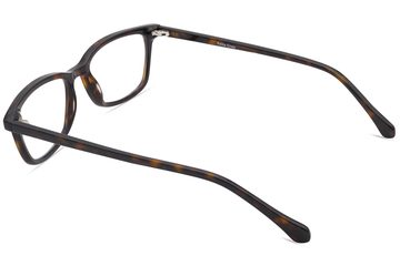 Faraday K2 eyeglasses in mahogany viewed from rear