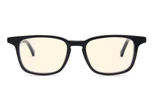 Nash K1 sleepglasses in black viewed from front
