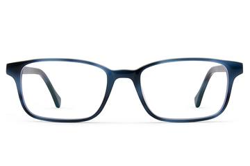 Carver eyeglasses in midnight surf viewed from front