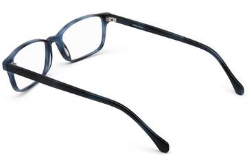 Carver eyeglasses in midnight surf viewed from rear