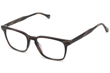 Nash eyeglasses in horn viewed from angle