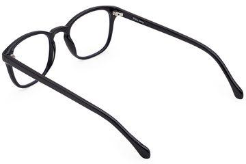 Tole eyeglasses in black viewed from rear