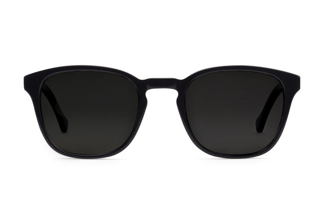 Tole sunglasses in black viewed from front