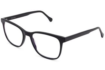 Volta eyeglasses in black viewed from angle