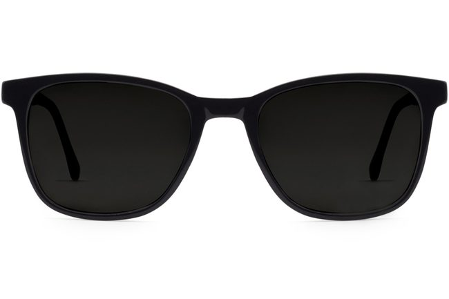 Volta sunglasses in black viewed from front