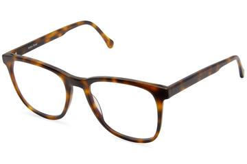 Volta eyeglasses in sazerac viewed from angle