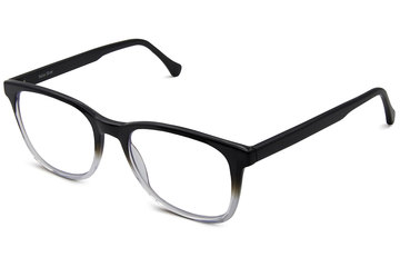Volta eyeglasses in manhattan fade viewed from angle