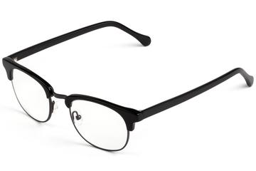 Kepler eyeglasses in black viewed from front