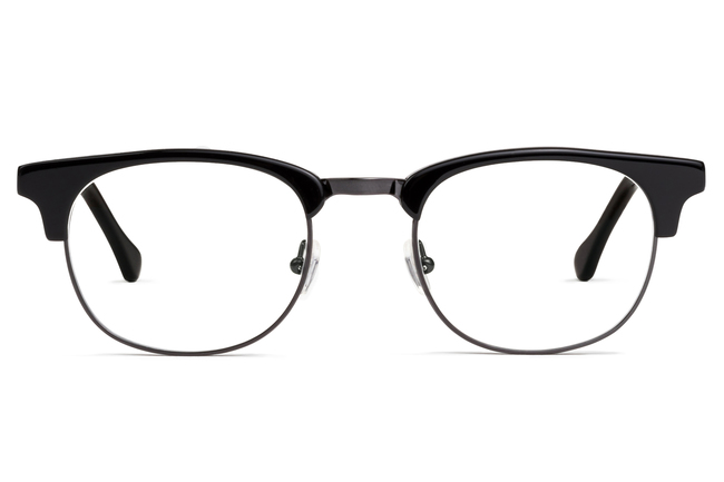 Kepler eyeglasses in black viewed from front