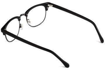 Kepler eyeglasses in black viewed from angle