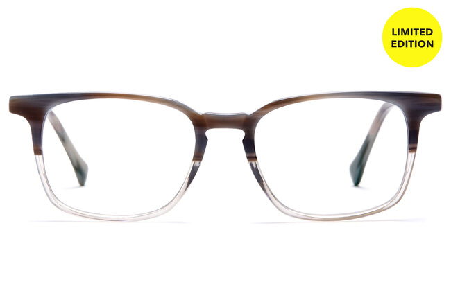 Nash eyeglasses in driftwood viewed from front