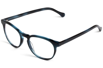 Roebling eyeglasses in midnight surf viewed from front