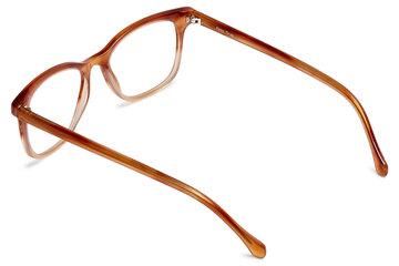 Hopper eyeglasses in cedar viewed from rear