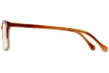 Hopper sleepglasses in cedar viewed from side