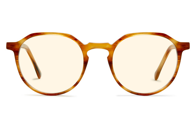 Franklin sleepglasses in amber toffee viewed from front