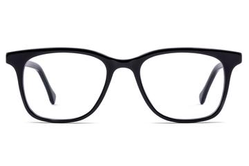 Hopper eyeglasses in black viewed from front