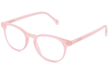 Roebling eyeglasses in rose mallow viewed from front