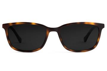 Faraday sunglasses in sazerac viewed from front