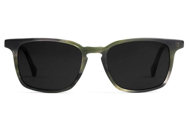 Nash sunglasses in artichoke viewed from front