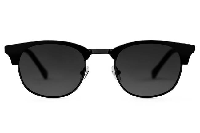Kepler sunglasses in black viewed from front