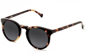 Turing sunglasses in whiskey tortoise viewed from angle