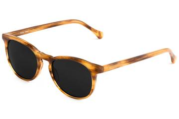 Roebling sunglasses in amber toffee viewed from angle