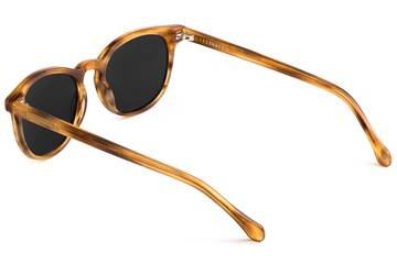 Roebling sunglasses in amber toffee viewed from rear