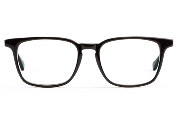 Nash eyeglasses in black viewed from front