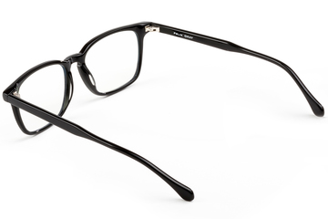 Nash eyeglasses in black viewed from angle
