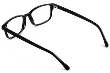 Carver eyeglasses in black viewed from rear
