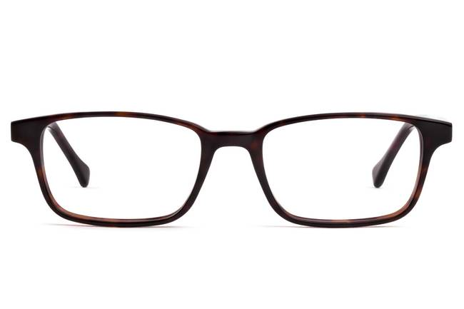 Carver eyeglasses in mahogany viewed from front