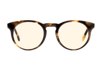 Turing sleepglasses in whiskey tortoise viewed from front