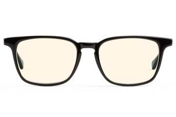 Nash sleepglasses in black viewed from front
