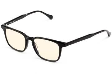 Nash sleepglasses in black viewed from angle