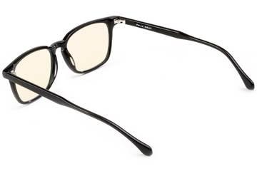 Nash sleepglasses in black viewed from rear