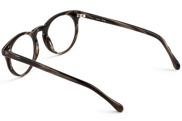 Turing eyeglasses in horn viewed from angle