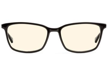 Faraday sleepglasses in black viewed from front