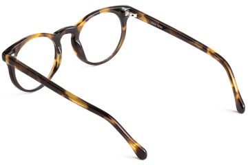 Turing eyeglasses in whiskey tortoise viewed from angle
