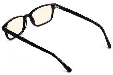 Carver sleepglasses in black viewed from rear
