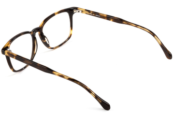 Nash eyeglasses in whiskey tortoise viewed from angle