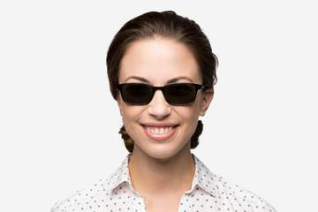 Carver sunglasses in mahogany on female model viewed from angle