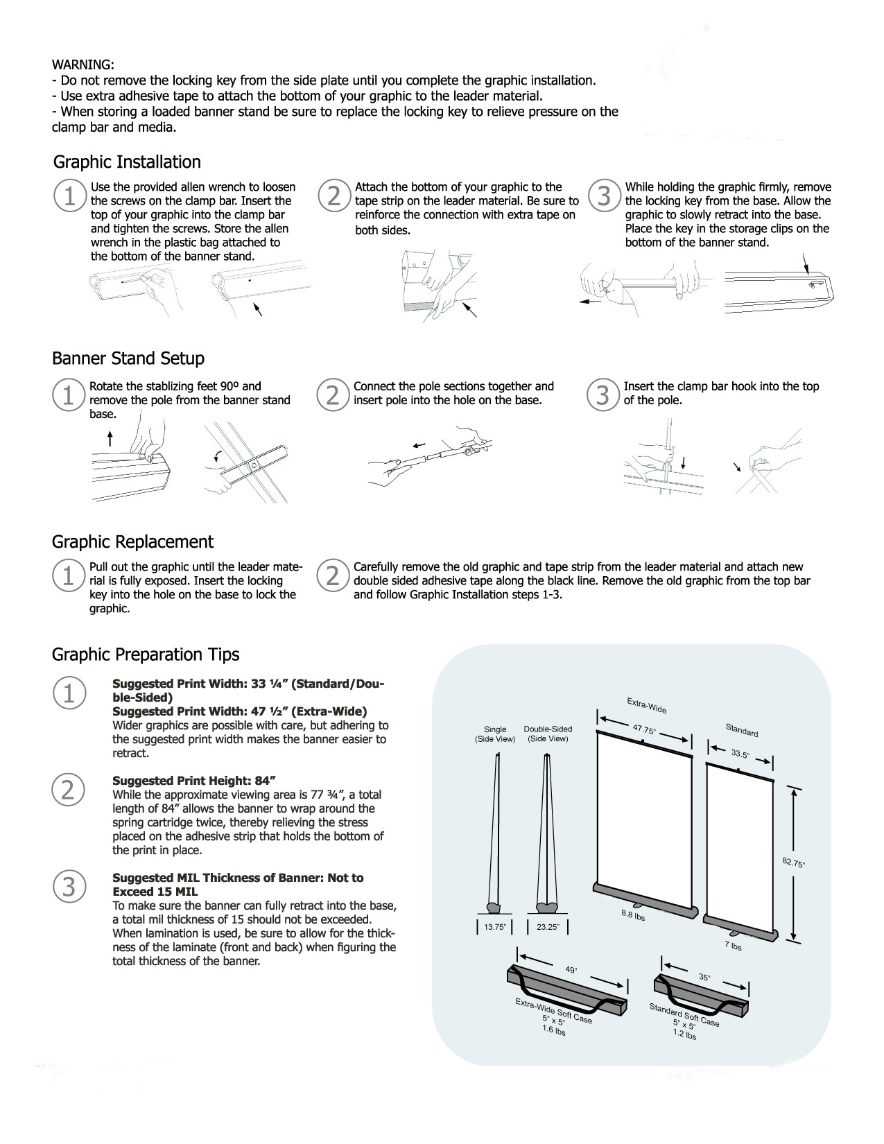 Spider Screw Clamp Banner Stand Instruction