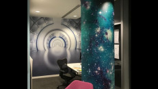 PhotoTex Fabric Paper printed wall wrap. Photo courtesy of PhotoTex.