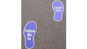 GF Concept 212 Carpet printed floor graphics.