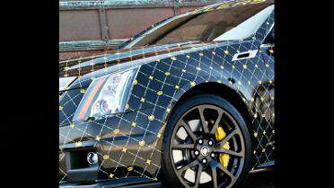 Cadillac CTS-V Gucci print with Mutoh Printer